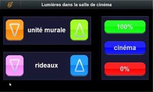 Controllo luci sala Home Theatre con touchscreen domotico