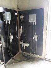 Quadro stazione di post amplificazione rete TV in cabina